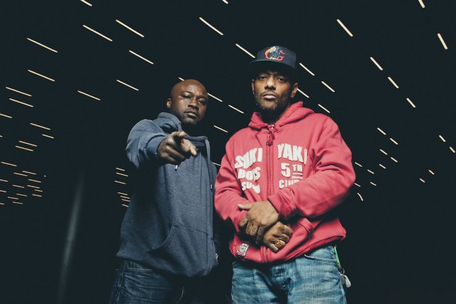 Havoc and Prodigy of Mobb Deep pose for a portrait at Red Bull Studios in New York, NY, USA on November 12, 2013.