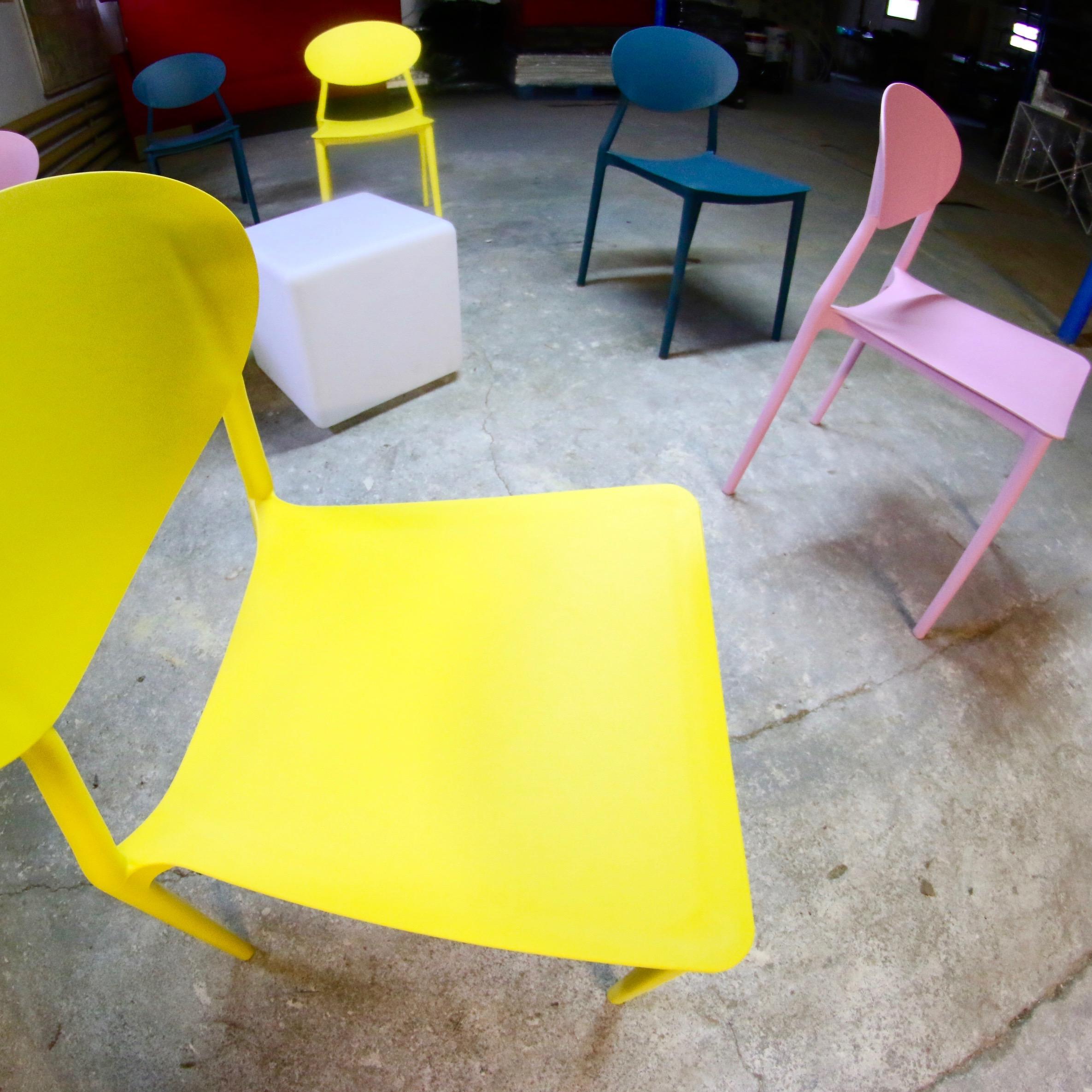 Krzesla Ipanema zolte rozowe morski turkus biale na slub na wesele kolorowe krzesla wynajem mebli magnetic group trojmiasto gdansk gdynia sopot plock koszalin olsztyn ostroda bydgoszcz torun